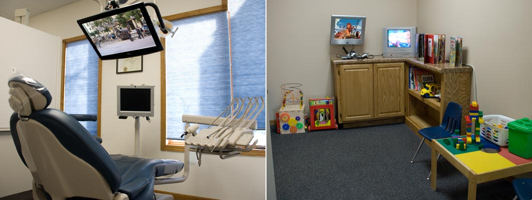 Hauge Dental Care - Exam Room and Kids Play Area